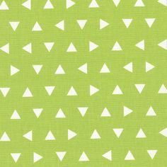 Lime Triangle fabric  Remix by Ann Kelle for by littlefabricstudio
