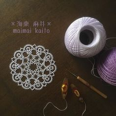'flower ~ sweet violet~' #tatting #maimaikaito #originaldesign #タティングレース #オリジナルデザイン#tattinglace