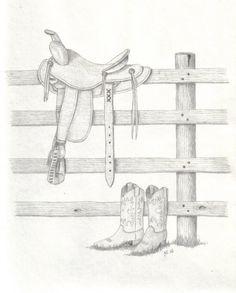 western sketches art | Art's Sketchbook - The Drawings and Paintings Of Art Cunningham