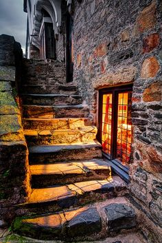 Ancient Steps, Conwy Castle, North Wales, England – Amazing Pictures - Amazing Travel Pictures with Maps for All Around the World