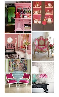 I like the chairs and the white giraffe in this collage