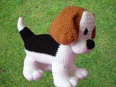 Beagle puppy Crochet Pattern by Kipulkai on Etsy Crochet For Kids, Crochet Baby, Knit Crochet, Knitting Projects, Crochet Projects, Sewing Projects, Amigurumi Patterns, Crochet Patterns, Beagle Puppy
