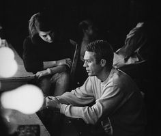 Natalie Wood and Steve McQueen on the set of 'Love with the Proper Stranger' Photographed by William Claxton, 1963 Natalie Wood, Robert Redford, Thomas Crown, William Claxton, Steve Mcqueen Style, Bible Belt, Brooklyn Baby, Scene Photo, Let Them Talk