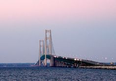 Mackinac Island Ferries - Hydro-Jet Ferry Service to Mackinac Island Michigan Vacation Destinations, Dream Vacations, Vacation Spots, Great Places, Places To See, Beautiful Places, Mackinac Island Bridge, Somewhere In Time, Travel Usa