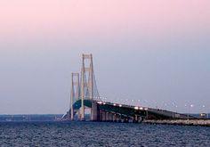Mackinac (Mackinaw) Michigan  ~ Awesome bridge!!