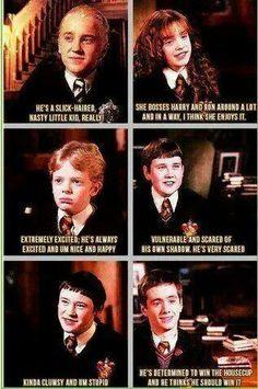 Harry Potter actors describing their characters