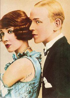 Adele & Fred Astaire (early 1920s) autographed photo