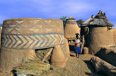 Africa |  Traditional houses in Togo