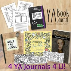 4 #YA Journals 4 U, Plus Adult Coloring Bookmarks! It's a #Giveaway!