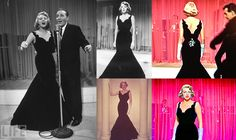 """Rosemary Clooney's black gown from """"White Christmas"""" is a great old hollywood style inspiration!"""