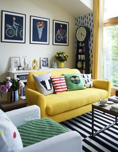 How to Use Pantones *Playful* Palette in Every Room via Brit + Co