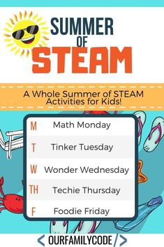 100s of activities for Math Monday, Tinker Tuesday, Wonder Wednesday, Techie Thursday, and Foodie Friday! #STEAMkids #STEM #STEMeducation #homeschooling #makeractivities #scienceforkids #mathforkids #teachkidstocode Steam Activities, Science Activities For Kids, Math For Kids, Hands On Activities, Basic Coding, Brick Paper, Steam Recipes, Small World Play, Learning Through Play