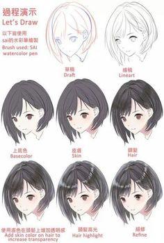 Trendy painting tutorial hair to draw 31 Ideas Mens Hairstyles Digital Art Tutorial, Digital Painting Tutorials, Art Tutorials, Drawing Hair Tutorial, Manga Tutorial, Art Sketches, Art Drawings, Art Du Croquis, Pelo Anime