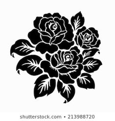 Find Rose Motif Flower Design Elements Vector stock images in HD and millions of other royalty-free stock photos, illustrations and vectors in the Shutterstock collection. Rosa Stencil, Stencil Art, Flower Stencils, Drawing Stencils, Stencil Patterns, Stencil Designs, Custom Stencils, Plant Drawing, Motif Floral