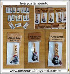 Imâs de geladeira - galinha http://amocarte.blogspot.com.br/