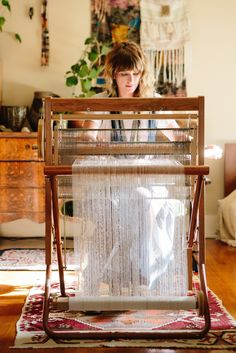 Sneak A Peek At A Textile Master's Pretty Pieces #refinery29  http://www.refinery29.com/jess-feury#slide10  Working woman!