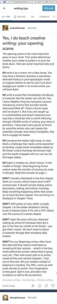 (You don't have to do all of this at once to have a good chapter but it's important to know what elements will make a good chapter lol)