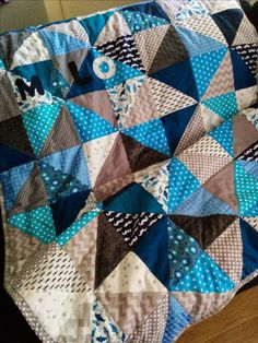Laisse Luciefer: Tuto Plaid Patchwork (Triangles)