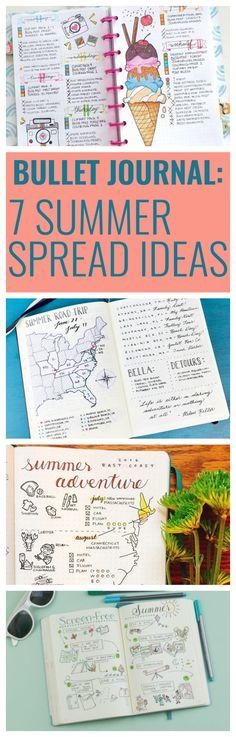 7 Summer Spread Ideas for Bullet Journals
