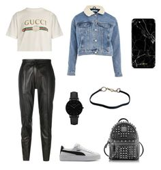 """polyvore"" by jesy-smith on Polyvore featuring mode, Gucci, Joseph, Topshop, Puma, MCM, CLUSE et Prada"