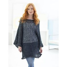 Tran seasonal and on-trend, Rewind is the perfect tape yarn for year-round sweaters, shawls, and cowls. Lion Brand Yarn, Sweater Knitting Patterns, Santa Monica, Cowl, Bell Sleeve Top, Tunic Tops, Pullover, My Style, Sweaters