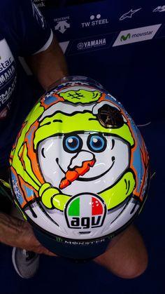 Valentino Rossi helmet. AGV winter test Edition. Test Pre-season MotoGP Sepang 1.