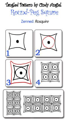 Draw-Peg-SquareFree Zentangle Tutorial Previous Pinner: View this video for my little show-and-tell session on how to draw it . Zentangle Drawings, Doodles Zentangles, Doodle Drawings, Tangle Doodle, Zen Doodle, Doodle Art, Zantangle Art, Zen Art, Doodle Patterns