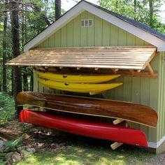 Canoe Storage, Shed Storage, Outdoor Storage, Surfboard Storage, Storage Racks, Boat Shed, Kayak Rack, Rack Solutions, Backyard Sheds