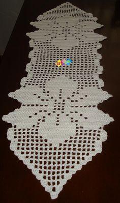 Crochet Doily Rug, Crochet Table Runner Pattern, Crochet Bedspread Pattern, Crochet Shawl Free, Crochet Doily Diagram, Crochet Edging Patterns, Crochet Stitches, Crochet Decoration, Decoration Table