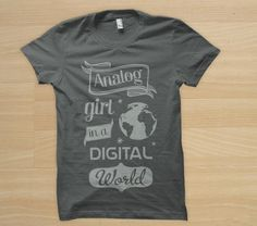 """Analog girl in a digital world"" by Hipstee"