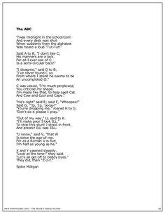 Spike milligan childrens poetry book