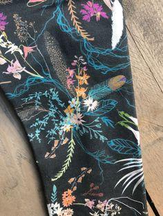 navy floral Little Acorns, Cotton Spandex, Leggings, Navy, Floral, Fabric, Closet, Style, Hale Navy