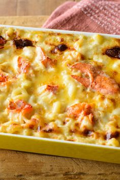 NYT Cooking: This recipe for lobster mac and cheese, a variation on <a… Recipe For Lobster Mac And Cheese, Macaroni And Cheese, Mac Cheese, Cheese Dishes, Seafood Recipes, Pasta Recipes, Cooking Recipes, Cooking Pork, Cooking Beets