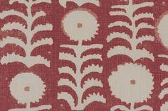 Penny Morrison--Killi Red fabric - Back Hallway Door Window Textile Fabrics, Textile Patterns, Textile Design, Color Patterns, Fabric Design, Print Patterns, Pattern Design, Decoupage, I Believe In Pink