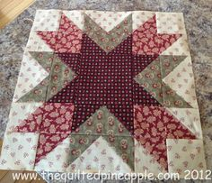 THE QUILTED PINEAPPLE: Blogger Girls Block of the Month-Block 1