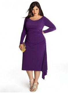 @IGIGI features clothing in sizes 12-30. Pretty sure Joan Holloway would love to shop here. Designer dresses here range from $130-$200, and they even have wedding dresses around $500. Shown: Milan Plus Size Dress in Amethyst ($138, igigi.com).