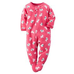 5e1ccdaf3 Carter's Nwt 4T Girl Scottie Pj Footed Pajama Blanket Sleeper Fleece Pjs,  Cat Sweatshirt,