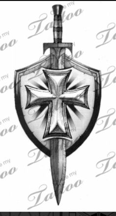 Grey Sword And Shield Tattoo Design … Grey Sword And Shield Tattoo Design … God Tattoos, Celtic Tattoos, Future Tattoos, Body Art Tattoos, Tattoos For Guys, Sleeve Tattoos, Armor Of God Tattoo, Sword Tattoo, I Tattoo