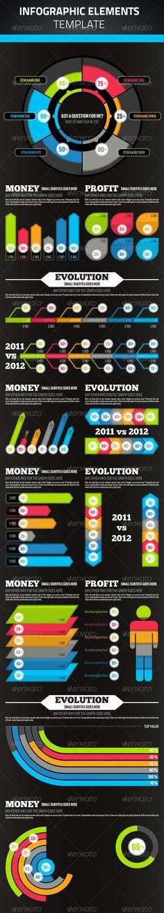 Infographic Elements  #GraphicRiver         Create your infographics using various elements.  	 All graphs were created using vector shapes, allowing you to change the size, color, and more without losing quality or shape.  	 Free fonts used in design, details in readme.txt     Created: 28August12 GraphicsFilesIncluded: PhotoshopPSD Layered: Yes MinimumAdobeCSVersion: CS Tags: bargraph #chart #datavisualization #graphic #infographics #information #percent #pie
