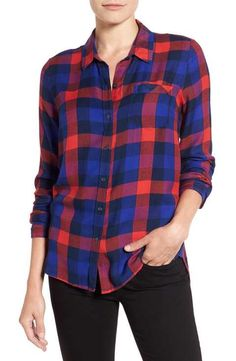 Lucky Brand 'Bungalow Plaid' Button Back Shirt