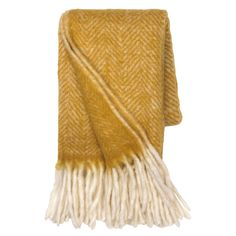 Herringbone Throw, Mustard | Blankets & Throws - Barker & Stonehouse