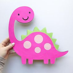 Dinosaur Cutout - Extra Large - Centerpiece - Dinosaur Decor - Party Decorations Add on to your Dinosaur party with this large centerpiece! You can use this large cutout for all kinds of things! Need more Dinosaur decorations? Kids Crafts, Daycare Crafts, Toddler Crafts, Preschool Crafts, Décoration Baby Shower, Decoration Creche, Girl Dinosaur Birthday, Dinosaur Crafts, School Decorations