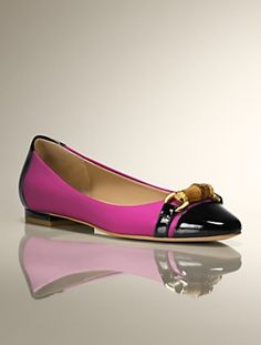 Talbots - Remy Patent and Leather Capped-Toe & Heel Flat | New Arrivals | Medium