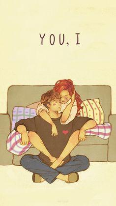 Cute Couple Comics, Cute Couple Cartoon, Cute Couple Art, Cute Couples, Cute Relationship Texts, Cute Relationships, Relationship Cartoons, Beautiful Scenery Pictures, Love Pictures