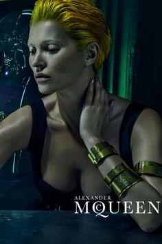 Kate Moss looks unrecognisable for Alexander McQueen