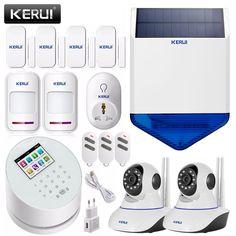 359.99$  Watch now - KERUI W2 Wifi GSM PSTN Smart home security alarm system+solar siren linkage wifi ip camera app remote control door sensor alarm   #buyonline