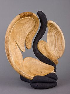 "*Wood Sculpture - ""At Rivers Edge"" by Betty Scarpino"