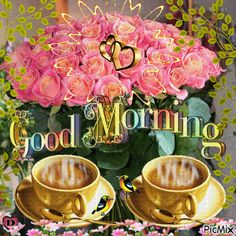 Start your day right with these beautiful good morning picture quotes that will help enrich, uplift and empower your day. Good Morning Rose Gif, Good Morning Sunday Images, Love Good Morning Quotes, Good Afternoon Quotes, Good Morning Cards, Cute Good Morning, Good Morning World, Good Morning Picture, Good Morning Flowers