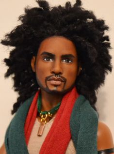 https://flic.kr/p/FEg5LL | Faraji- AA Texas A&M University Ken Repaint OOAK Doll by DollAnatomy.com | This dark prince used to be a doll. He has been given a portrait style face palette in order to capture some of the many colors and physical nuances of real Black/ Brown people and their skin tones.