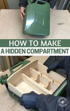 How to Make a Hidden Compartment From Jerry Can - The build looks pretty simple and is laid out with an easy to understand step by step process. These DIY projects are a lot of fun and can be highly effective. #diy #storage #prepping #preparedness